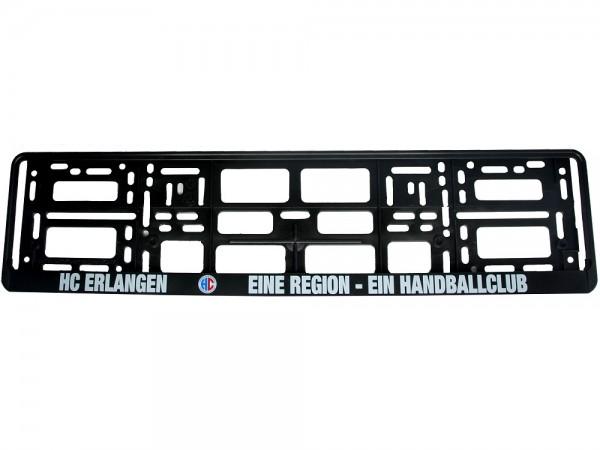 HC Erlangen Kennzeichenhalter | schwarz | universal